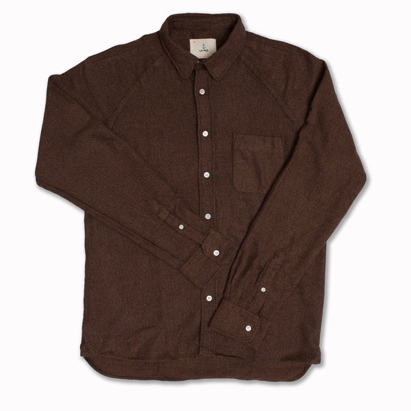 Mirra in brown cotton flannel