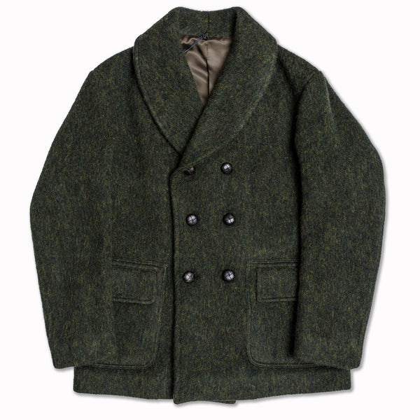 AADELAIDE wool coat in vintage green