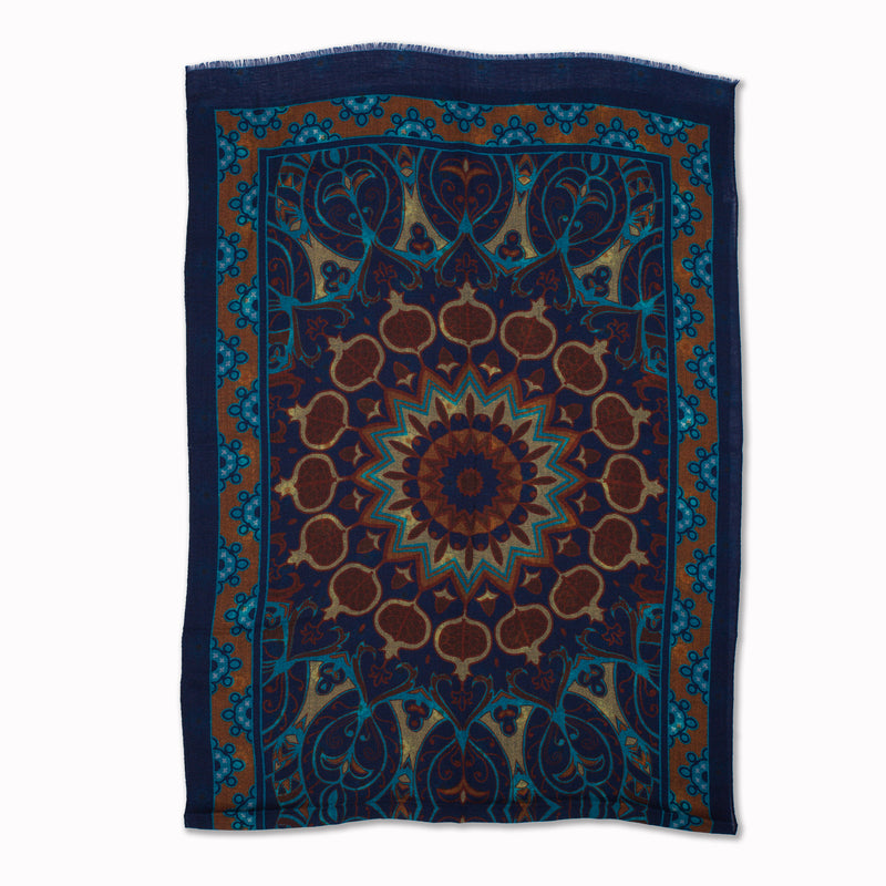 Scarf Parsifal in Indigo