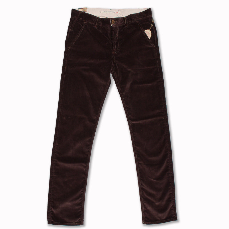 "Chino ""101"" in dark brown corduroy"