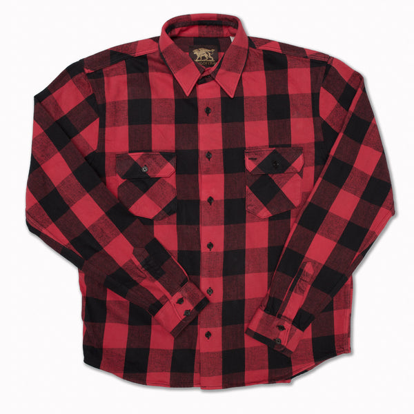 Norris in Red/Black buffalo check
