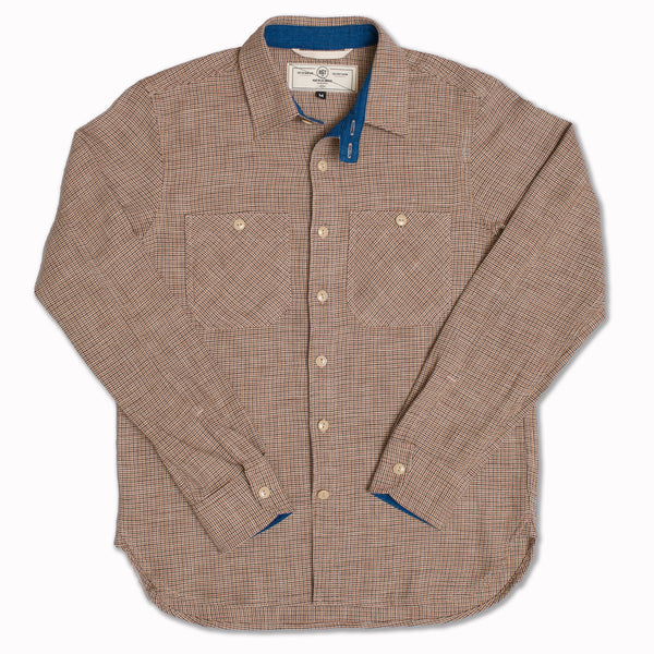 BM workshirt in micro houndstooth