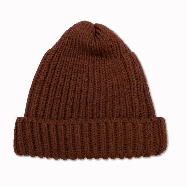 Beanie in Rust Merino Wool