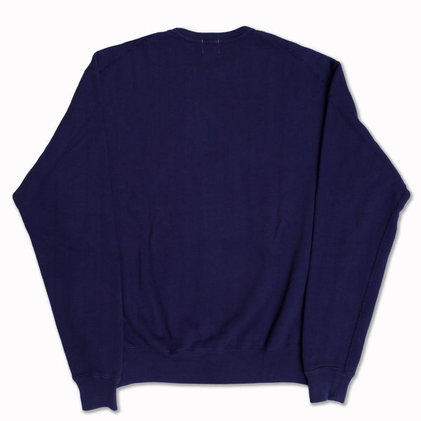 Cotton sweatshirt in vintage French Navy Blue
