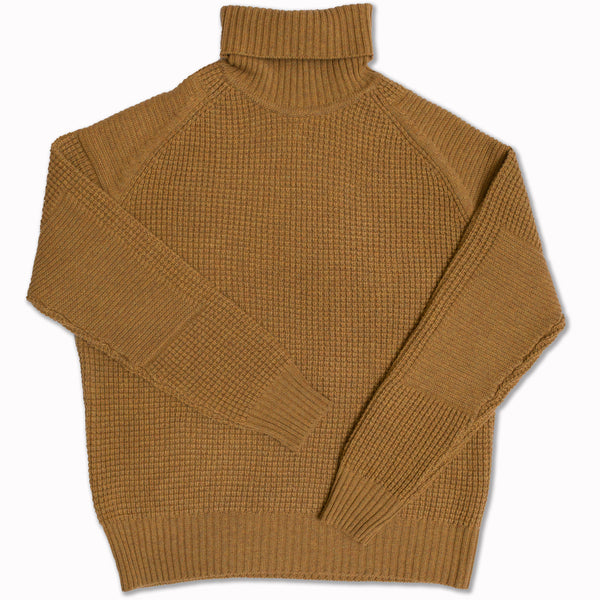 Extra fine merino lambswool sweater in Mustard