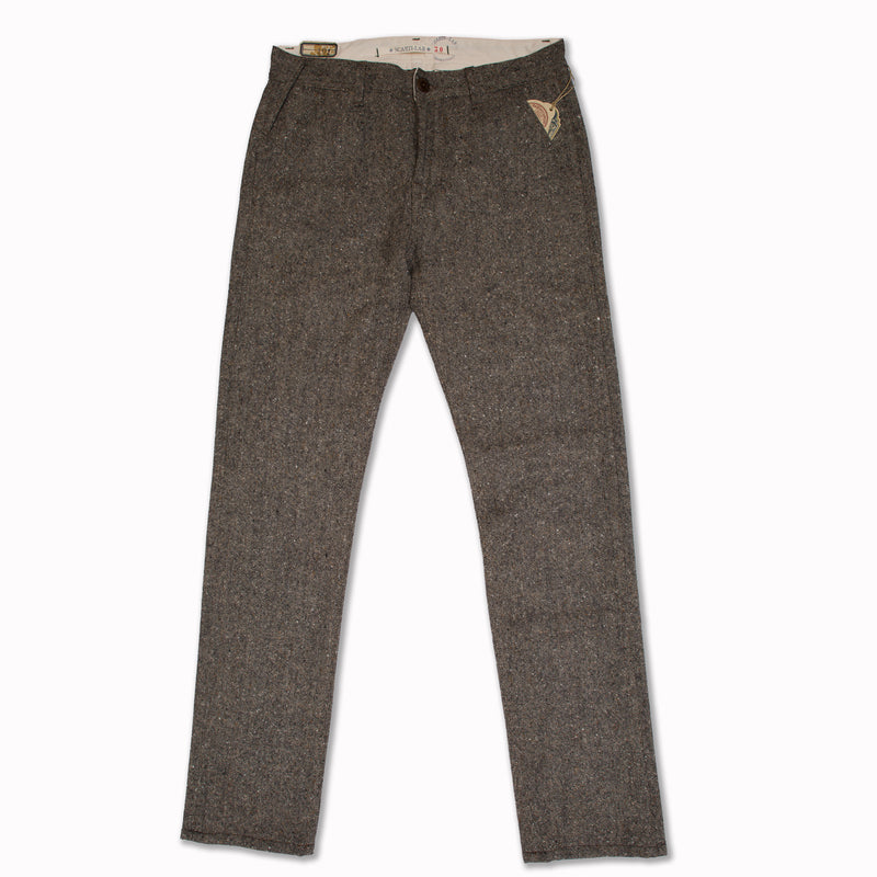 "Chino ""101"" in grey flecked wool"