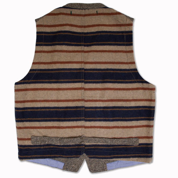 Vest in grey flecked wool
