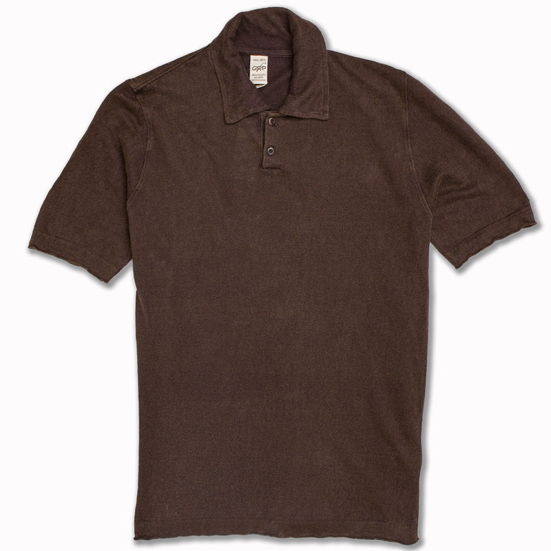 Linen Polo in faded brown