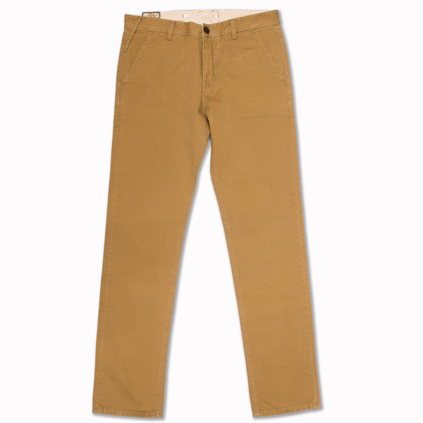 "Chino ""101"" in khaki herringbone"