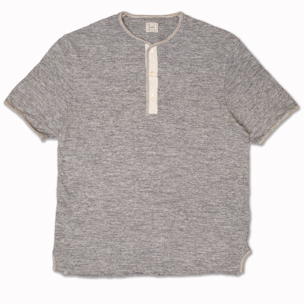 Edge Piping Classic Henley in Dark Grey