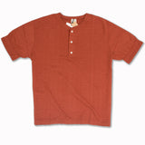 Random Broad Stitch Henley in Deep Cherry