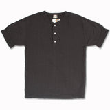 Random Broad Stich Henley in Antique Black