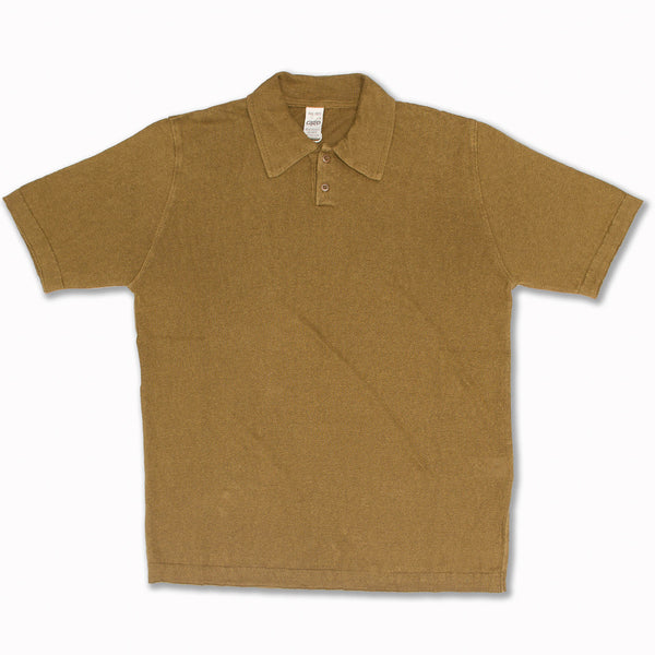 Linen Polo in Tobacco