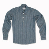 Linen Pop Over Navy and Stone Pencil Stripe