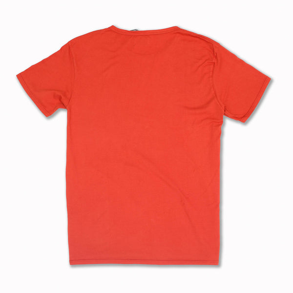 T-shirt en Coton Pima de couleur Orange Sanguine