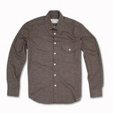 Speckled Wool Over Shirt in Charcoal wool blend