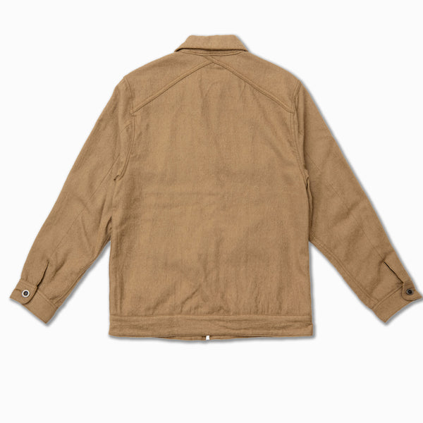 Mechanic Jacket in Camel boiled wool