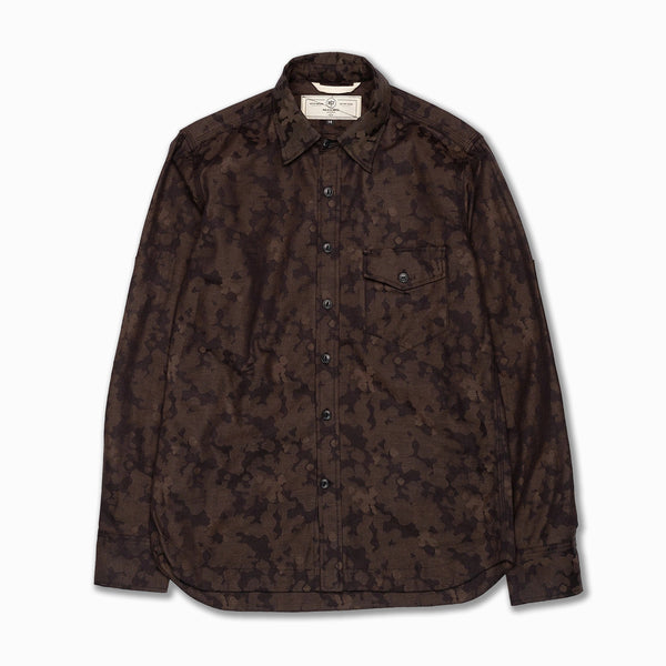 Oxford Work Shirt Brown Camo Jacquard