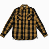 "Crosscut ""Drunk"" Flannel in Mustard and Black"