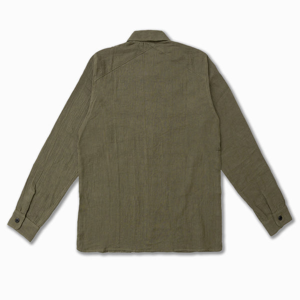 Gauze Fatigue Overshirt in Olive