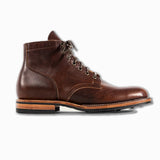 Service Boots in vegetable tanned Horween Dark Essex Ruber