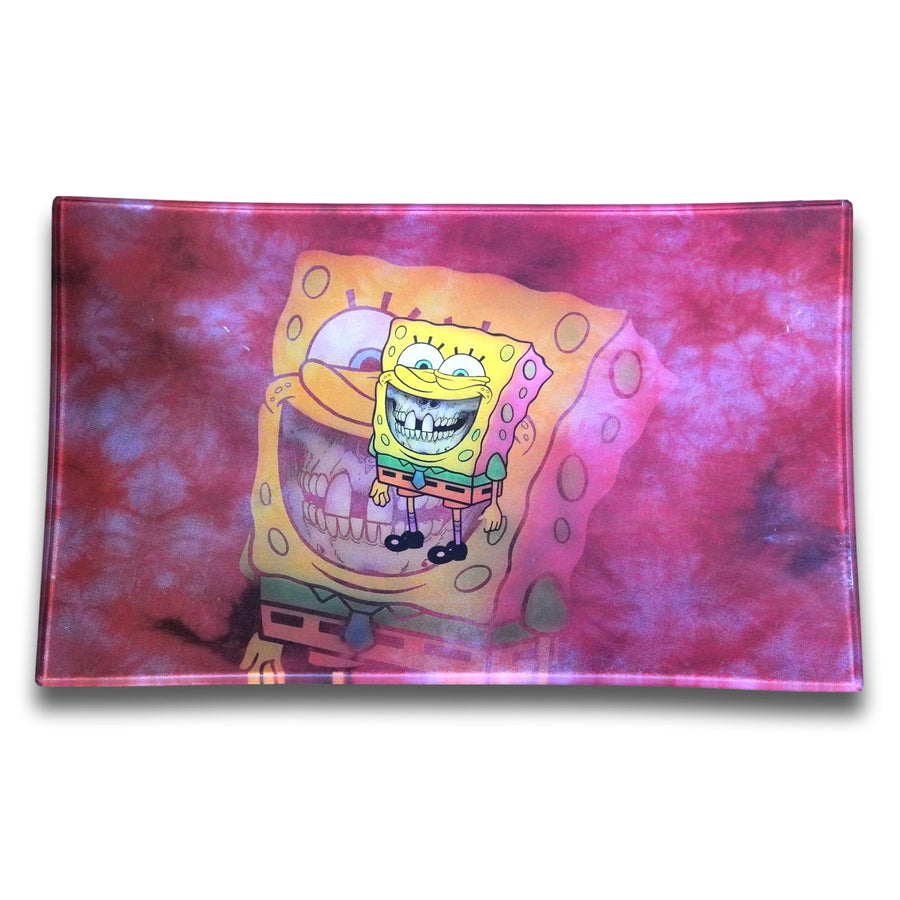 Spongebob glass rolling tray
