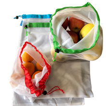 Load image into Gallery viewer, Reusable washable produce vegetable bags