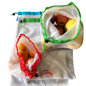 Reusable washable produce vegetable bags
