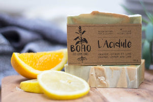 Natural and organic hand made soap for face and body