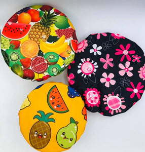 Set of 3 reusable hand made covers