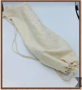 Baguette reusable cotton bag, hand made