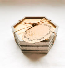 Load image into Gallery viewer, Coaster set of 3 made of concrete in a zero waste environnement