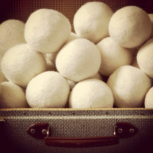 Reusable wool dryer balls hand made in Canada
