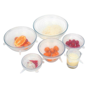 Silicone reusable lids - set of 6