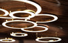 Mahlu by Cameron Design House, Interior LEDs Chandelier, Metal and Opal Acrylic