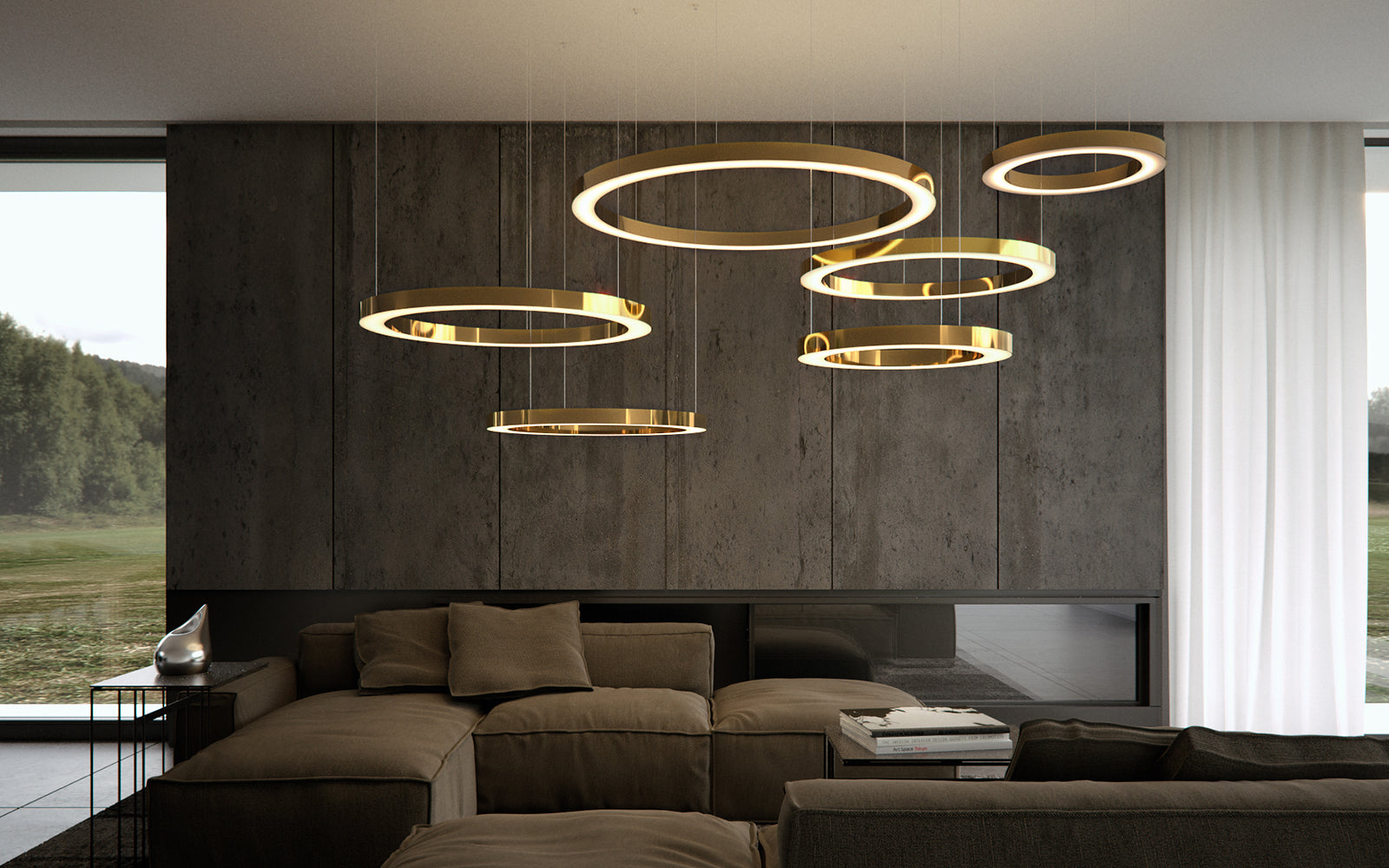 Mahlu By Cameron Design House, Circular Led Lighting, Luminaire, Henge Light