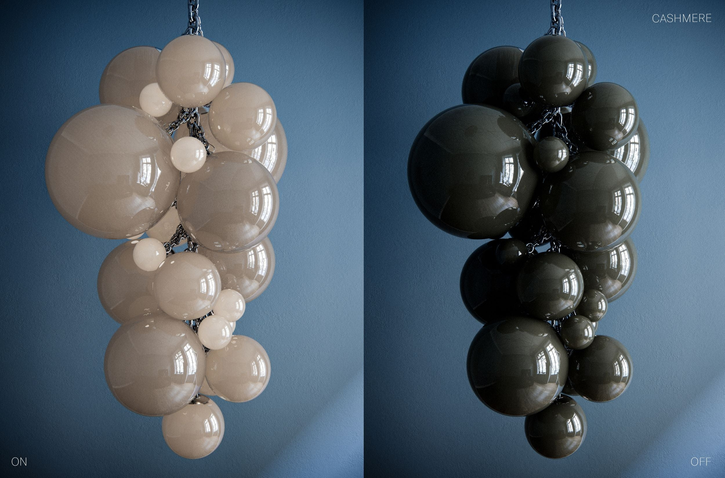 Kuulas Glass Chandelier in Cashmere by Cameron Design House
