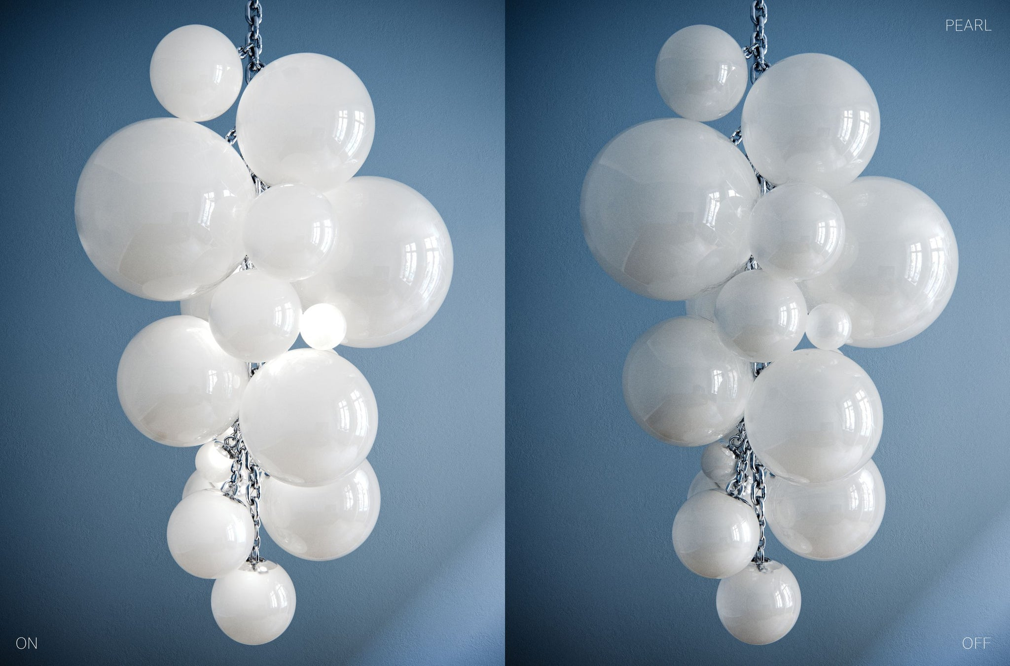 Kuulas Glass Chandelier By Cameron Design House in Pearl