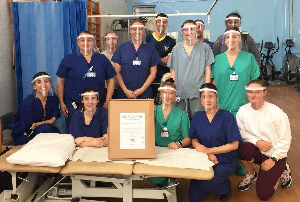 CAMERON DESIGN HOUSE FREE NHS FACE SHIELDS ROYAL FREE HOSPITAL