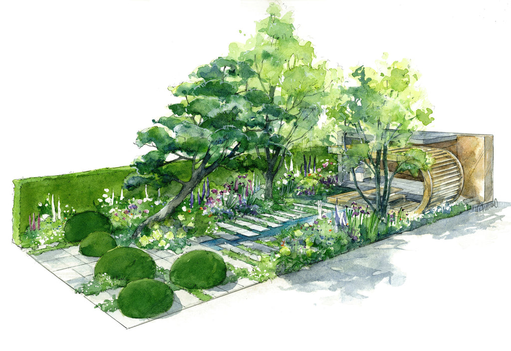 The Morgan Stanley Garden Designed by Chris Beardshaw for RHS Chelsea Flower Show 2019