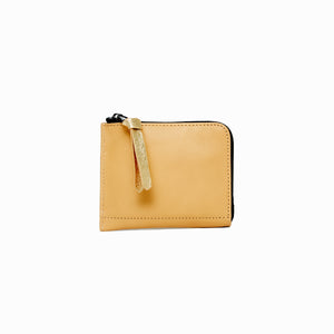 Half Zip Wallet | Beige - A R A M L E E ® Convertible Transformable Italian Leather Handbag Backpack Purse