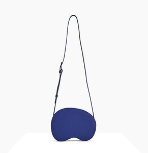 Cloud Crossbody Bag | Navy Blue - A R A M L E E ® Convertible Transformable Italian Leather Handbag Backpack Purse