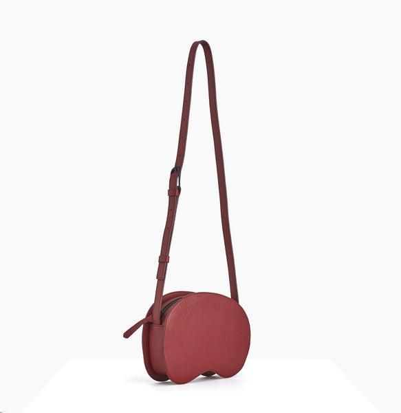 Cloud Crossbody | Burgundy - A R A M L E E ® Convertible Transformable Leather Handbag