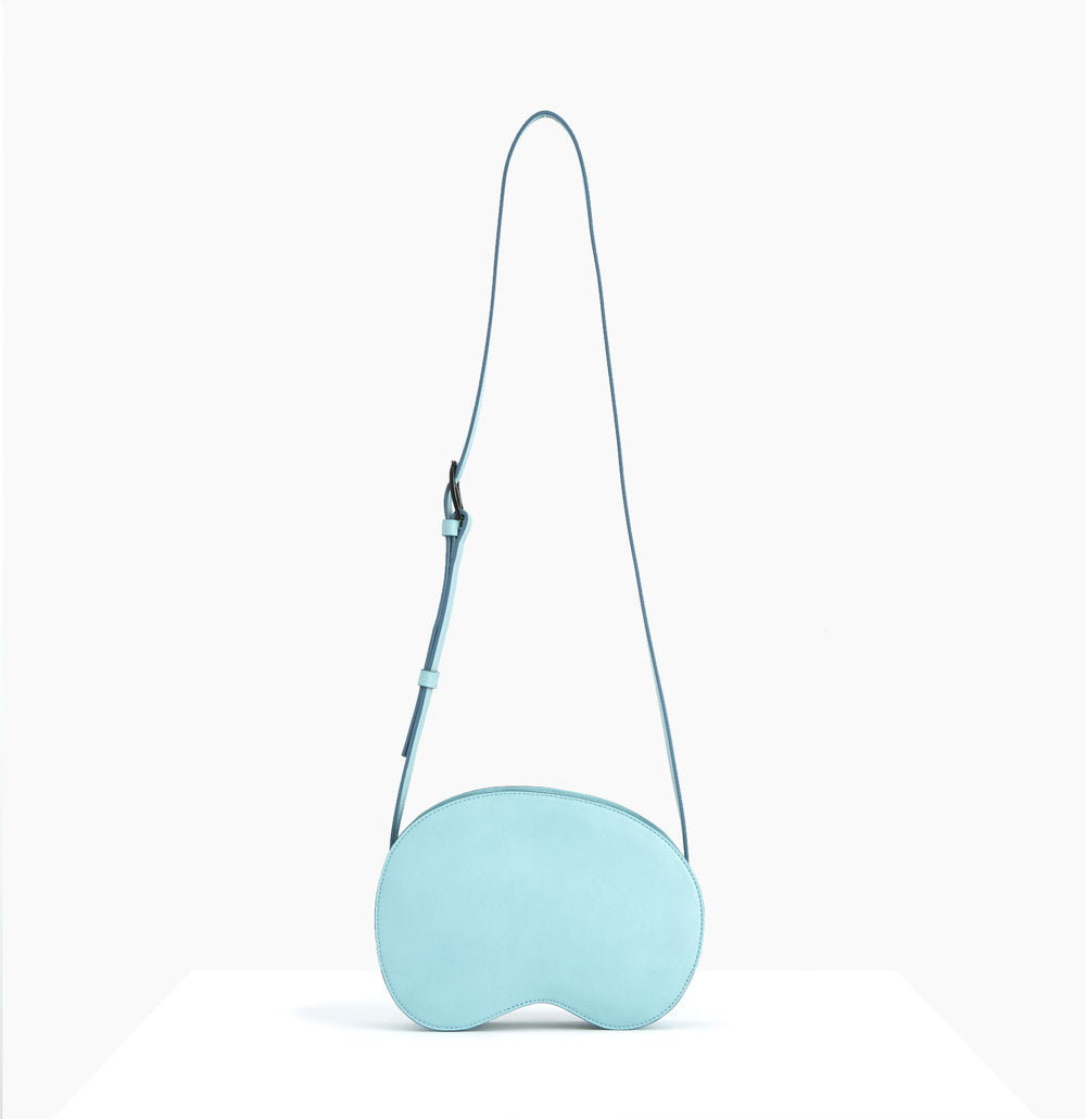 Cloud Crossbody Bag | Misty Sky - A R A M L E E ® Convertible Transformable Italian Leather Handbag Backpack Purse