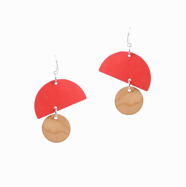 Bells Earrings | Fire Red - A R A M L E E ®