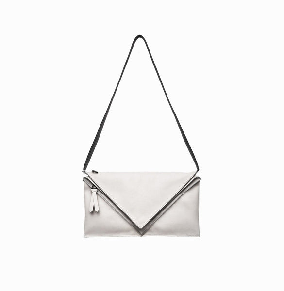 Hana Shoulder Bag | Light Grey - A R A M L E E ® Convertible Transformable Italian Leather Handbag Backpack Purse