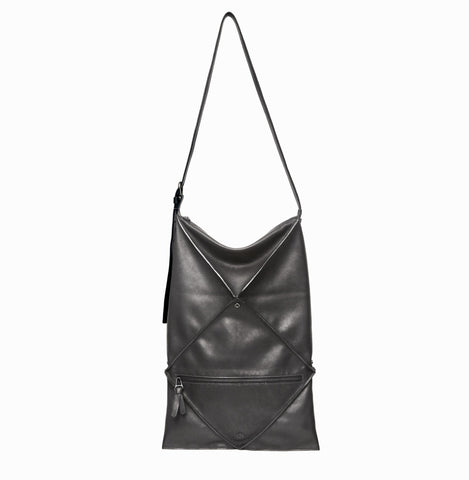 Hana Shoulder Bag | Black - A R A M L E E ® Convertible Transformable Italian Leather Handbag Backpack Purse