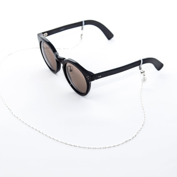 Mask/ Eyewear Silver Necklace | Beveled Chain - A R A M L E E ®