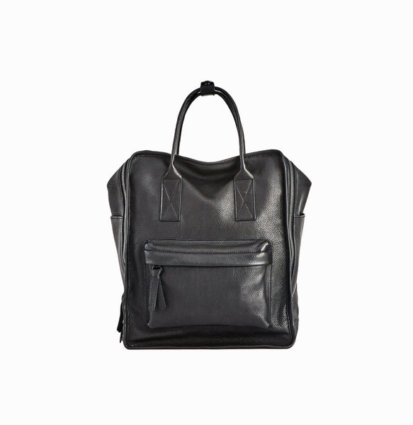 Nora Backpack | Black - A R A M L E E ® Convertible Transformable Leather Handbag