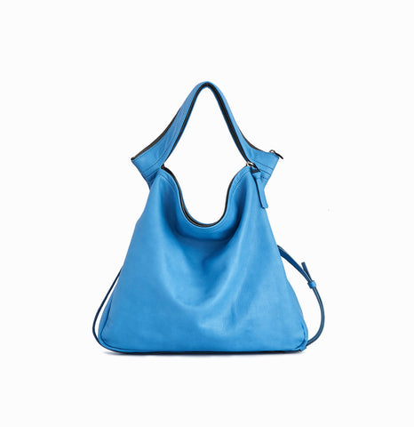 Rei Convertible Shoulder Bag | Ocean Blue - A R A M L E E ® Convertible Transformable Italian Leather Handbag Backpack Purse